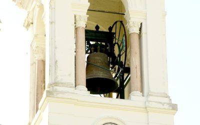Conjunto de sinos da Basílica Santuário de Nazaré passam por manutenção