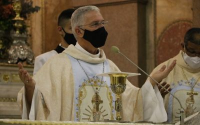 Círio 2020: Dom Irineu Romam presidiu Santa Missa, na Basílica Santuário de Nazaré, nesta terça-feira (13)