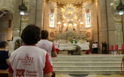 Em Nazaré: Santa Missa celebrou 20 anos da Pastoral do Dízimo, neste domingo (03)